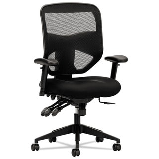 basyx by HON VL532 Series Black Mesh Back Padded Mesh Seat High-Back Task Chair