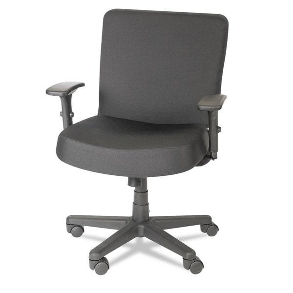 Alera Plus XL Series Black Big & Tall Mid-Back Task Chair