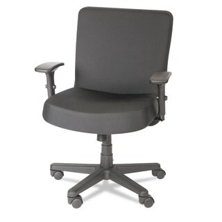 Alera Plus XL Series Black Big & Tall Mid-Back Task Chair