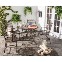 Safavieh Outdoor Living Rustic Thessaly Rustic Brown Dining Set (5-piece)