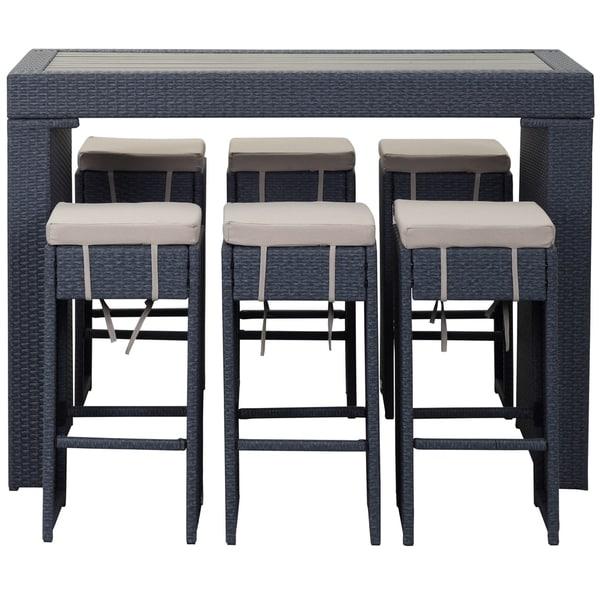 Bars Sets For Sale: Shop Safavieh Outdoor Living Sanders Titanium/ Sand Bar