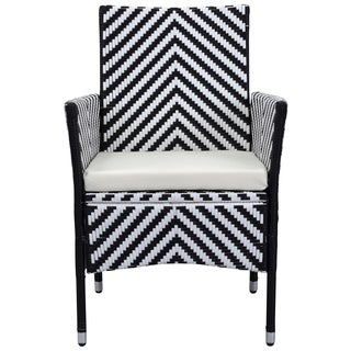 Safavieh Outdoor Living Cooley Black/ White Dining Set (5-piece)