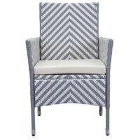 Safavieh Outdoor Living Cooley Grey/ White Dining Set (5-piece)
