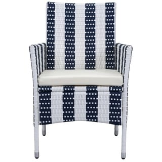 Safavieh Outdoor Living Cooley Navy/ White Dining Set (5-piece)