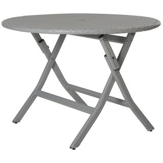 Safavieh Outdoor Living Ellis Grey Round Folding Dining Table