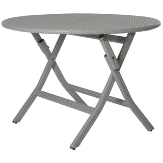 safavieh outdoor living dilettie grey rectangle folding dining, Dining tables