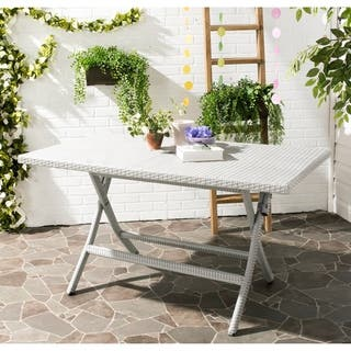 Safavieh Outdoor Living Dilettie Grey Rectangle Folding Dining Table|https://ak1.ostkcdn.com/images/products/10300190/P17413676.jpg?impolicy=medium
