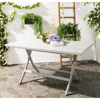 Safavieh Outdoor Living Dilettie Grey Rectangle Folding Dining Table