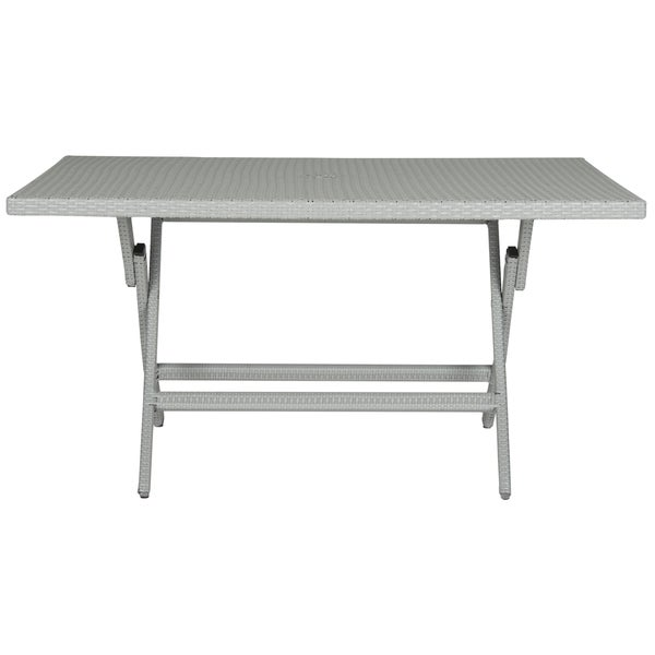 Safavieh Outdoor Living Dilettie Grey Rectangle Folding Dining Table   Free  Shipping Today   Overstock.com   17413676