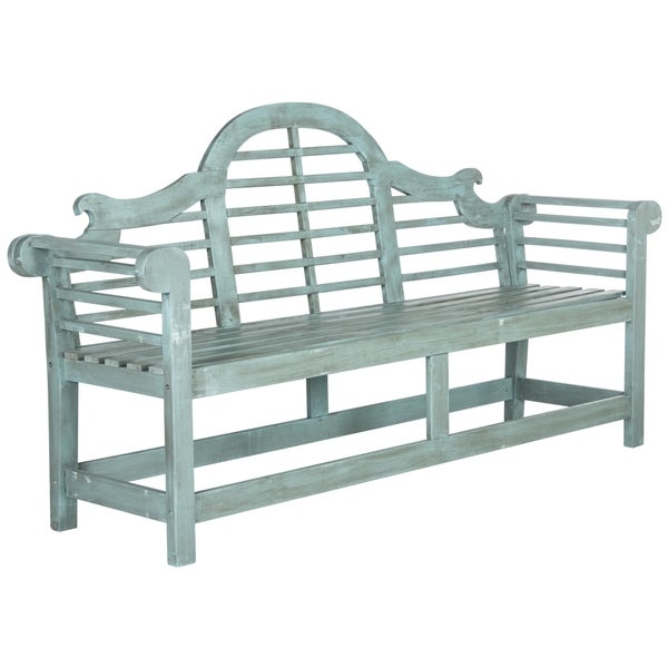 Safavieh Outdoor Living Khara Beach House Blue Bench