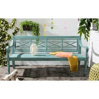 Safavieh Outdoor Living Karoo Beach House Blue Bench