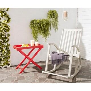 Safavieh Outdoor Living Clayton White Wash Rocking Chair