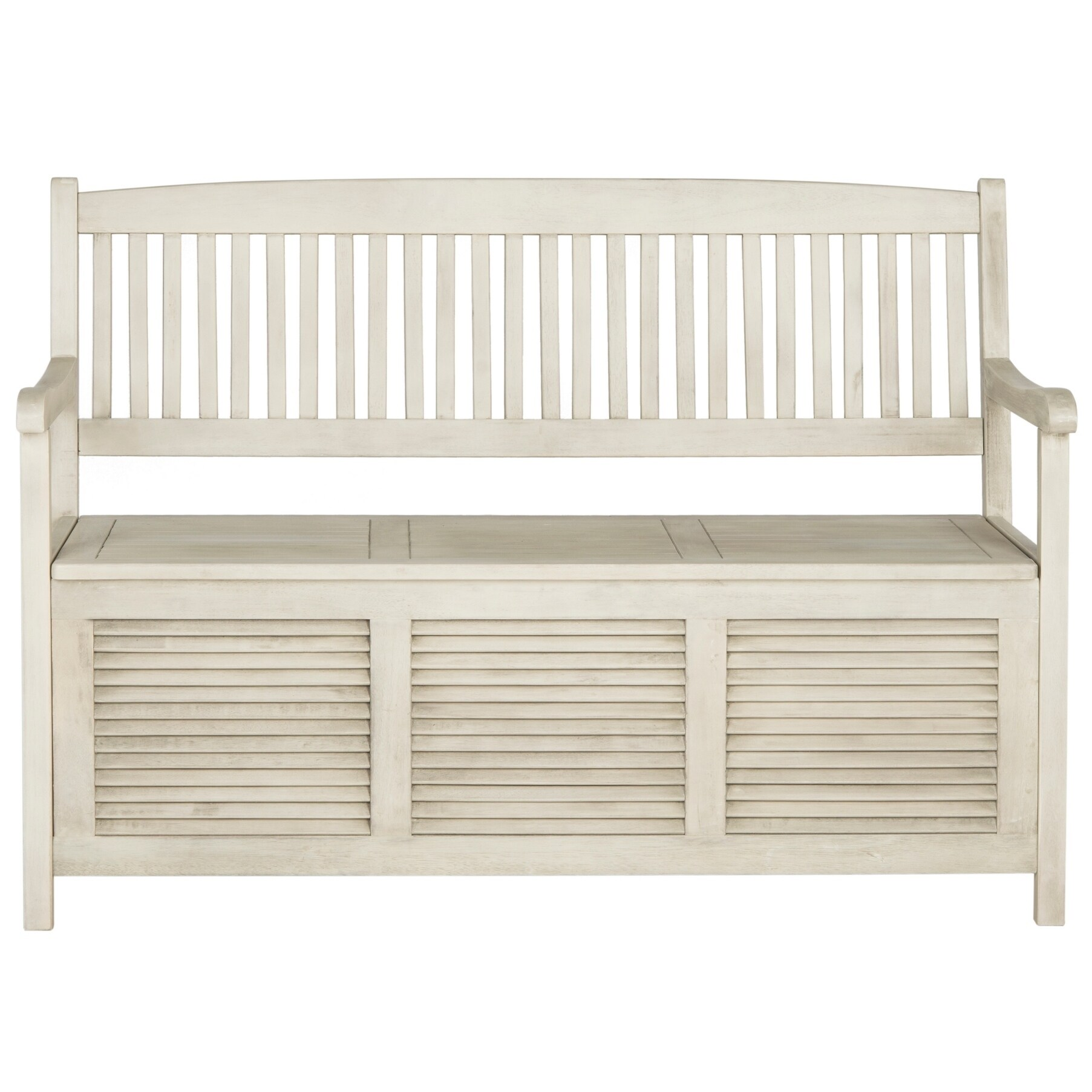 Safavieh Outdoor Living Brisbane Distressed White Storage...