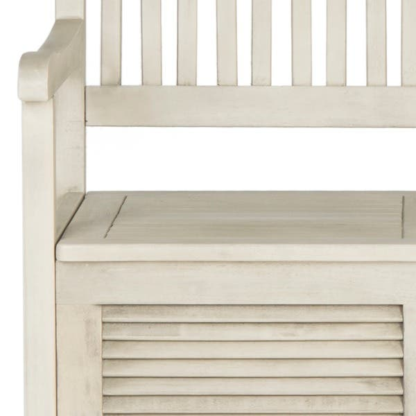 Fine Shop Safavieh Outdoor Living Brisbane Distressed White Theyellowbook Wood Chair Design Ideas Theyellowbookinfo