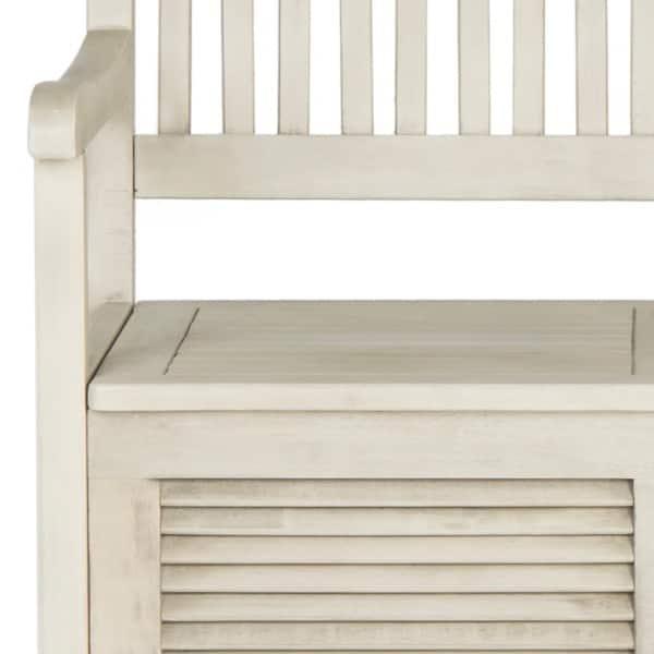 Incredible Shop Safavieh Outdoor Living Brisbane Distressed White Machost Co Dining Chair Design Ideas Machostcouk