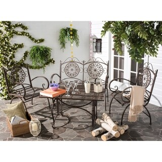 Safavieh Outdoor Living Rustic Sophie Rustic Brown Iron Patio Set (4 Piece)