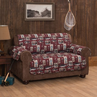 Gone Fishing Loveseat Protector