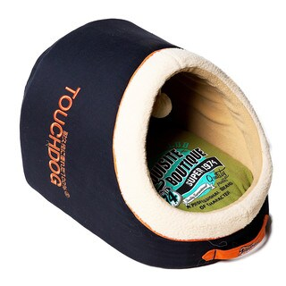 Touchdog Indoor Active-Play Exquisite Panoramic Designer Vintage Emblem Dog Bed
