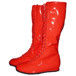 Red Adult Pro Wrestling Boots