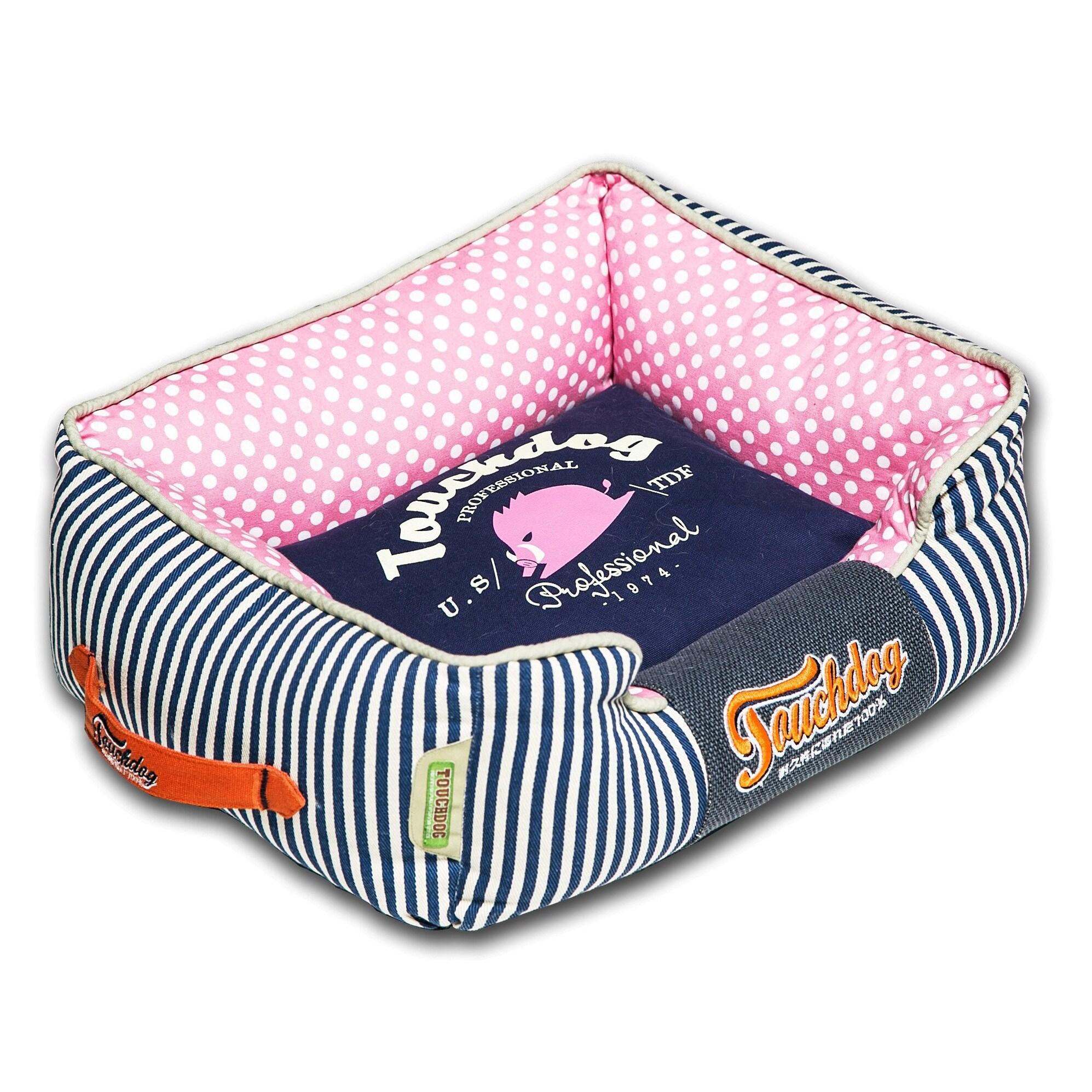 Petlife Touchdog Polka-Striped Polo Easy Wash (Blue) Rect...