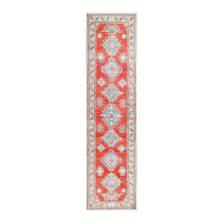 Herat Oriental Afghan Hand-knotted Tribal Vegetable Dye Kazak Wool Runner (2'10 x 11'5)