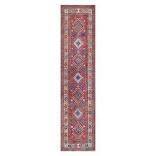 Herat Oriental Afghan Hand-knotted Vegetable Dye Tribal Kazak Wool Runner - 2'8 x 11'4