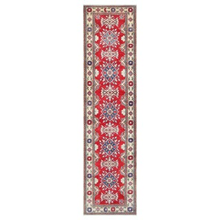 Herat Oriental Afghan Hand-knotted Tribal Vegetable Dye Kazak Wool Runner (2'10 x 11'6)
