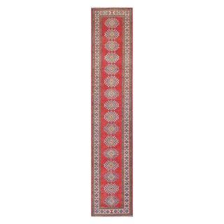Herat Oriental Afghan Hand-knotted Tribal Vegetable Dye Kazak Wool Runner (2'3 x 12'1)