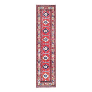 Herat Oriental Afghan Hand-knotted Tribal Vegetable Dye Kazak Wool Runner (2'6 x 11')