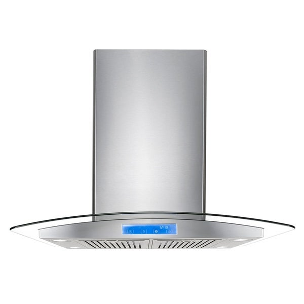 Cosmo 30-inch Range Hood 900 CFM Ducted Island Mount Stainless Steel - STAINLESS STEEL