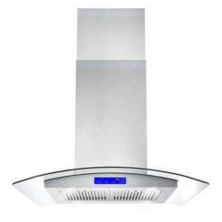 Cosmo 30-inch Range Hood 900 CFM Ducted Island Mount - STAINLESS STEEL