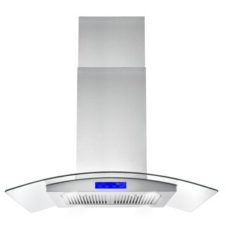 Cosmo 36-inch Range Hood 900 CFM Ducted Island Mount - STAINLESS STEEL