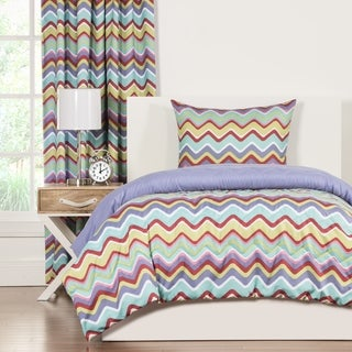 Crayola Mixed Palette Chevron 3-piece Comforter Set