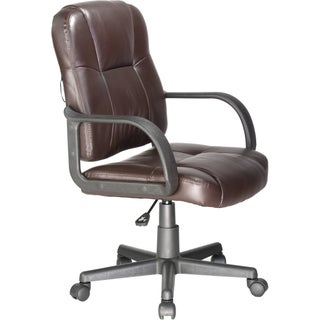 Massage Mid-back Leather Task Chair