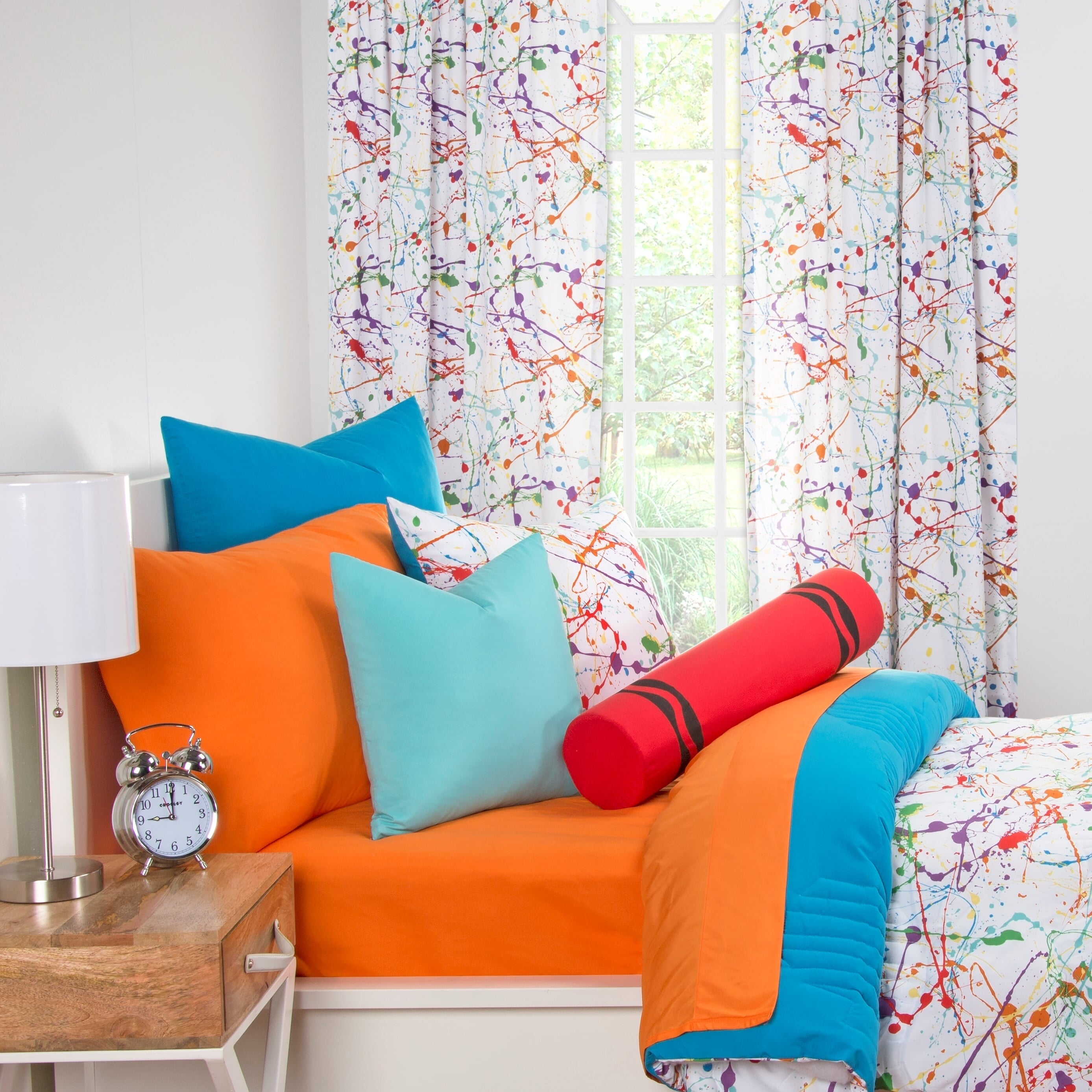 Crayola Splat Brushed Microfiber 3 Piece Comforter Set On Sale Overstock 10300498