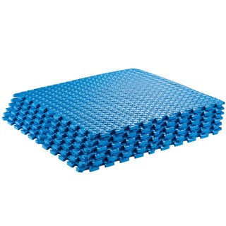 Puzzle Exercise Interlocking Blue Yoga Mat