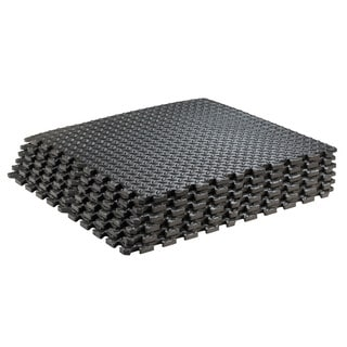 Puzzle Exercise Interlocking Black Yoga Mat