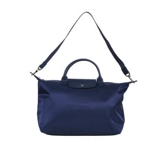Longchamp Navy Le Pliage Neo Medium Handbag