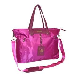 Adrienne Vittadini High Density Nylon Raspberry 15-inch Laptop Tote