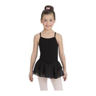 Girls' Capezio Dance Black Cotton Camisole Dress