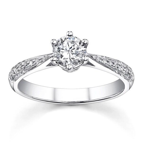 18k White Gold 3/4ct TDW Diamond Engagement Ring