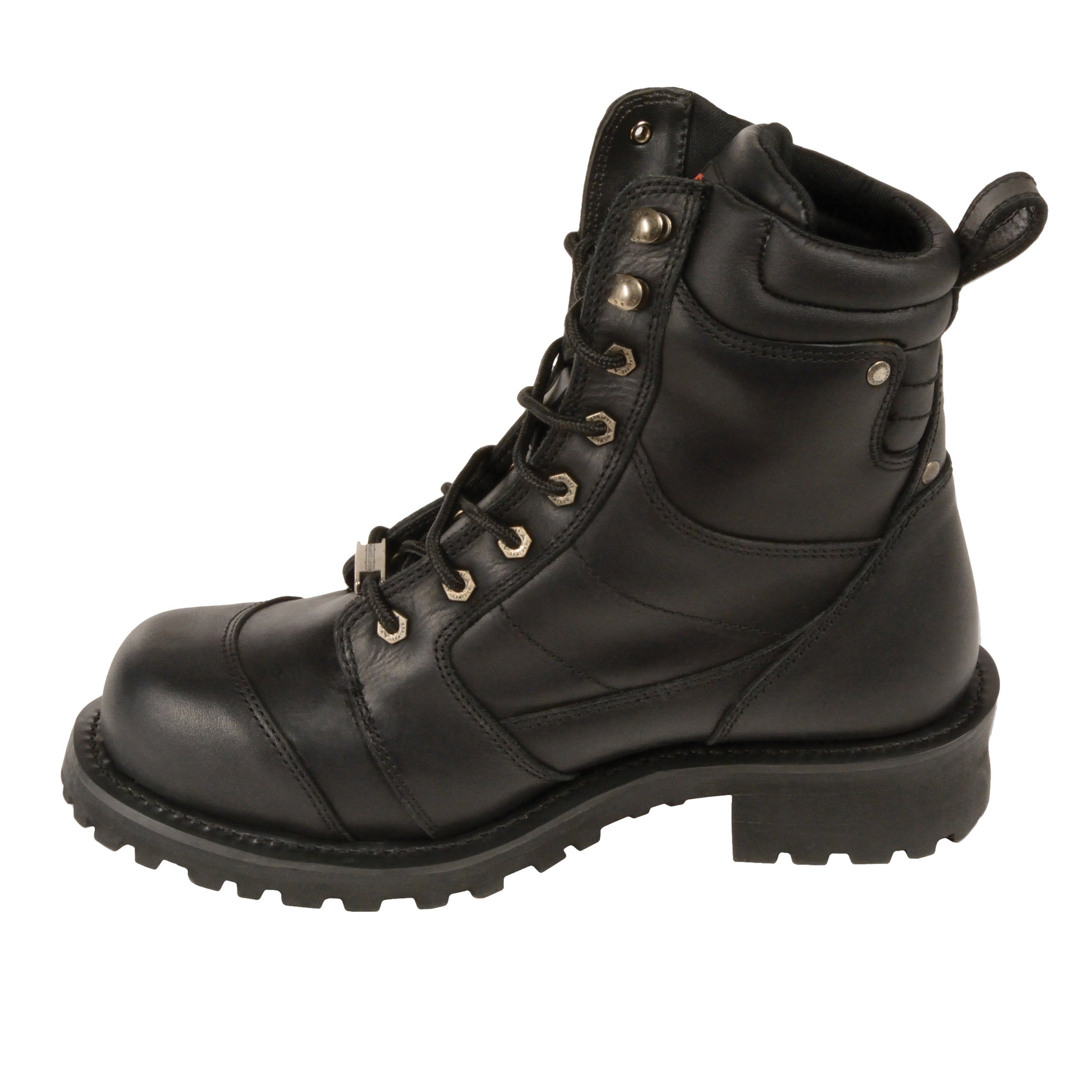 Milwaukee Mens Classic Motorcycle Boots Black, Size 9