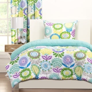 Crayola Pointillist Pansy 3-piece Comforter Set (2 options available)
