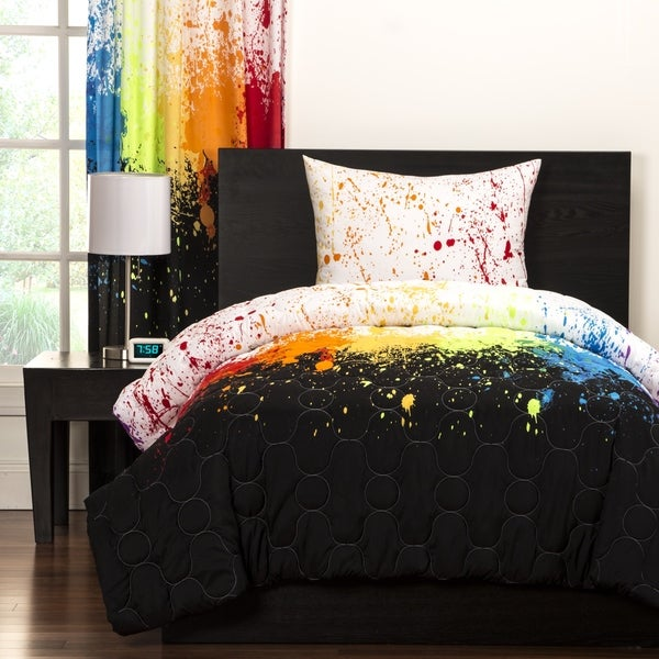 Crayola Cosmic Burst Brushed Microfiber 3-Piece Comforter Set. Opens flyout.
