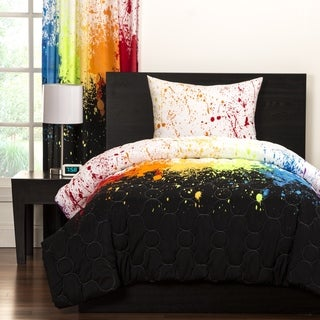 Crayola Cosmic Burst Brushed Microfiber 3-Piece Comforter Set (2 options available)