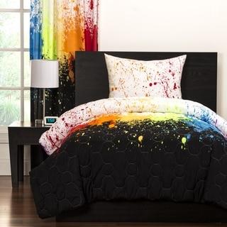 crayola cosmic burst brushed microfiber 3piece comforter set
