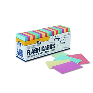 Pacon Blank Flash Card Assorted Dispenser Boxes (2 Packs of 1,000 Cards)