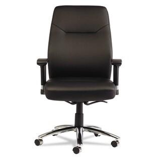 Alera LC Leather Series Black Self-Adjusting Chair