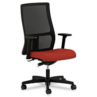 HON Ignition Series Poppy Fabric Upholstered Seat Mesh Mid-Back Work Chair