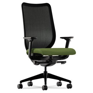 HON Nucleus Series Black ilira-stretch M4 Back, Clover Seat Work Chair
